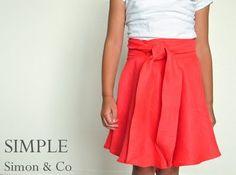 Tutorial: Wrap Skirt made from a Circle Skirt / transformer une jupe cercle en jupe croisé!
