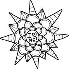 free guided journal mandala coloring book for self love