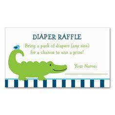Preppy Alligator Diaper Raffle Tickets Business Card Templates