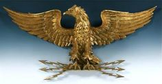 Unbelievable Antique Hand Carved Wooden Gold Gilt Eagle#Repin By:Pinterest++ for iPad#