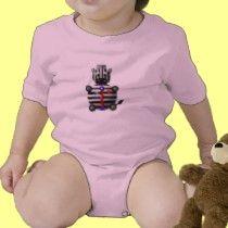 Cute zebra with a zipper t-shirts by cutecrittersheart
