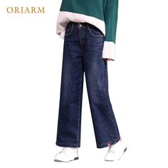 8d552952eeec US $34.57 |plus size Plus Velvet Straight Denim Thick Winter Pants Women  plus Velvet Wide Leg Loose Vintage Jeans Women Warm-in Jeans from Women's  Clothing ...