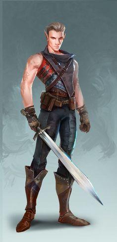 Elf swordman