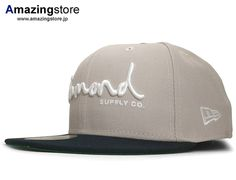 OG Script Tan-Navy 59Fifty Fitted Baseball Cap by DIAMOND SUPPLY CO. x NEW ERA