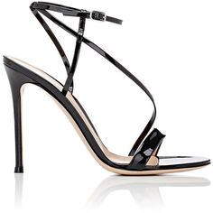 Gianvito Rossi Women's Carlyle Sandals (50.645 RUB) ❤ liked on Polyvore featuring shoes, sandals, heels, black stilettos, ankle strap heel sandals, heeled sandals, black sandals and high heeled footwear