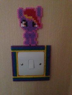 My Little Pony Hama perler bead Light Switch Frame by playbunnie09