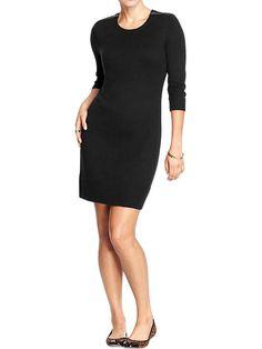 Womens Shoulder-Zip Sweater Dresses Product Image