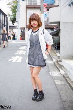 Harajuku Girl in Sporty Chic Look w/ Bob Hairstyle, Nike, Valentino Christy