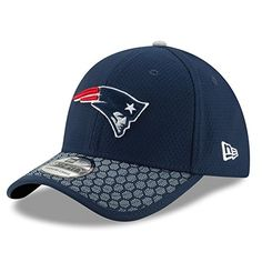 453c0047e07 Men s New Era New England Patriots 2017 Official NFL Sideline 3930 Cap  Navy Gray Size