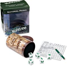 We always bring Yahtzee when we travel.  This is perfect.
