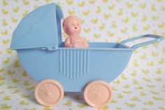 Doll Carriage with Doll by Best Toy Company