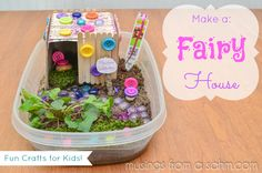 Crafts for Kids: Make a Fairy House - fun easy #craft #project for #children - via musingssahm.com