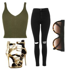 """Untitled #26"" by laurenmq ❤ liked on Polyvore featuring Topshop, Giuseppe Zanotti, CÉLINE and celine"