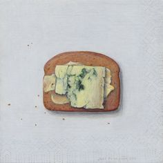 I know it's only painted on but that blue looks awfully good on toast.