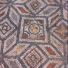 Mosaic floor in ancient Ephesus. Love this!  Can you believe this was done clear back in the Bible days?  How awesome that these sidewalks still exist.  It is a beautiful sight to see.