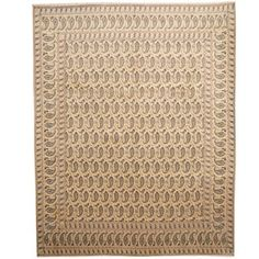 Shop for Herat Oriental Persian Hand-knotted 1960s Semi-antique Kashan Beige/ Navy Wool Rug (10' x 12'8). Get free shipping at Overstock.com - Your Online Home Decor Outlet Store! Get 5% in rewards with Club O! - 18871344