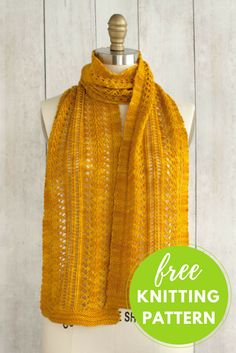 One skein project! Sage Smudging Scarf Free Knitting Pattern using Manos del Uruguay Alegria yarn