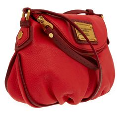 Marc by Marc Jacobs Mini Red Classic Q Natasha Bag ($485) via Polyvore