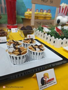 Party Planning - Party Ideas - Cute Food - Holiday Ideas -Tablescapes - Special Occasions And Events - Party Pinching - Peanuts Movie Party