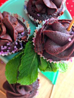 Mini Cupcakes de chocolate con menta
