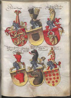 Grünenberg, Konrad: Das Wappenbuch Conrads von Grünenberg, Ritters und Bürgers zu Constanz um 1480 Cgm 145 Folio 194