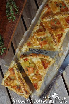 Crostata salata patate e salmone - In cucina con Zia Ralù Zia, Healthy Food, Healthy Recipes, Sweet Breakfast, Delicious Dishes, Kitchen Items, No Cook Meals, Food Pictures, Lasagna