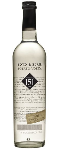 Boyd & Blair Professional Proof 151 Vodka | The Winebow Group