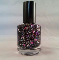 ON SALE - Invitation Only -  Pink Purple Blue Silver Black Glitter Indie Nail Polish