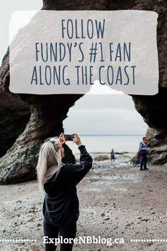 Local personality Jordan Knox shows you why you'll flip for New Brunswick's Bay of Fundy coast. Atlantic Canada, Newfoundland And Labrador, High Tide, New Brunswick, Nova Scotia, Stuff To Do, Personality, Coast, World