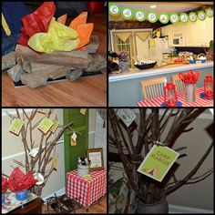 Inspiration For Celebration Indoor Camping Birthday Party