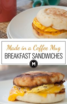 How to Make Breakfast Sandwiches in a coffee mug! The perfect solution to a quick breakfast!