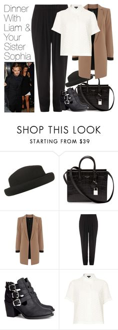 """""""Dinner w/ Liam and Your Sister Sophia"""" by onedirectionimagineoutfits99 ❤ liked on Polyvore featuring Topshop, Yves Saint Laurent, Oasis, Alexander Wang and H&M"""