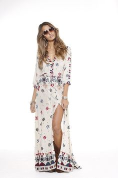 Vast Horizon Maxi Dress in Beige Dust - Arnhem Clothing - 4