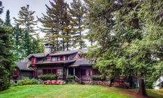 "For Sale: J.P. Morgan's 120-Year-Old Adirondacks Home. Price: $ 3.25 Million. Known as ""Great Camp Uncas""....one of the Adirondack Great Camps. Former home of JP Morgan, the home was built in 1895, on 1500 acres. JP Morgan bought it 2 years later."