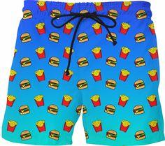 Men Board Shorts Fleur De Lis Mardi Gras Swimming Trunks