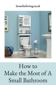 Wondering how to make the most of a small bathroom and increase storage space in a small room? In this post, I'll show you some of the best small bathroom storage ideas and other ways to make the most of your small bathroom with clever small bathroom design ideas #lovechicliving Freestanding Bathroom Shelves, Bathroom Cabinets Over Toilet, Over The Toilet Cabinet, Toilet Shelves, Bathroom Drawers, Bathroom Decor Sets, Bath Cabinets, Bathroom Storage Shelves, Bathroom Organisation