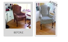 Elise's reupholstered wing chair