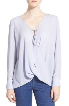 #Wayf Wrap Front Long Sleeve Blouse available at #Nordstrom
