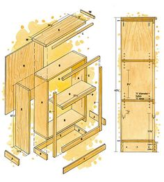 How to Build an Adjustable-shelf Bookcase