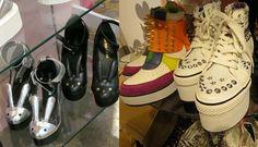 Shibuya 109 - gyaru department store in Tokyo. See photos of the cute, trendy gal brands including Liz Lisa at: http://www.lacarmina.com/blog/2013/04/shibuya-109-tokyo-gyaru-shopping-asia-designer-clothes-shoes/    bunny shoes, bunny high heels, spiked sneakers