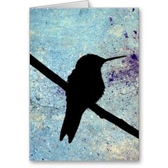 Kolibri, Gute Besserung Greeting Card