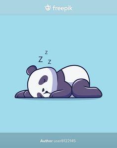 Cute panda sleeping cartoon illustration | Premium Vector #Freepik #vector