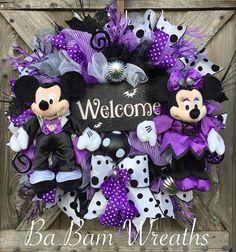 Disney Halloween Wreath Mickey Mouse Halloween by BaBamWreaths