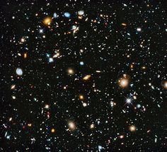 Hubble Ultra-Deep Field image (full range of ultraviolet to near-infrared light) includes some of the most distant galaxies to have been imaged by an optical telescope, existing shortly after the Big Bang. (I think that this is one of the most fascinating images ever taken - Bruce).