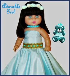 """ADORABLE GIRL    --    SEE THE VIDEO OF THIS DOLL:  """"SHOW AND RARE BEAUTY"""""""