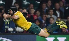 Anglaterra 13-33 Austràlia #RWC2015 #ENG vs #AUS #CarryThemHome vs #StrongerAsOne #Wallabies  / Giteau dives over to seal the emphatic win.
