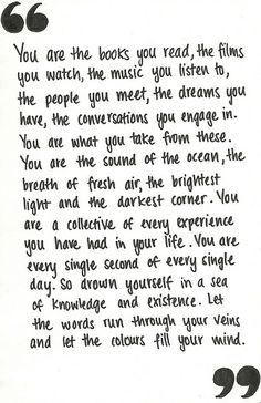 you are your life.