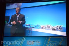 Forget the Apple Watch. Forget the Pebble Time. What you really need is a wristband that gives you the power to control an army of scary-looking drones. At IDF in Shenzhen, Intel CEO Brian Krzanich put on a simple Curie-powered wristband with motion detection, which then let him commandeer four robot spiders.