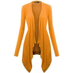 Easther Light Weight Flyaway Cardigan Shawl Collar Shrug with ...