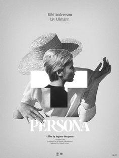 Design and Art Direction for Film and Entertainment. Ingmar Bergman Films, Persona Ingmar Bergman, Bergman Movies, Cinema Quotes, Cinema Posters, Retro Posters, Persona 1966, Good Movies To Watch, Film Inspiration